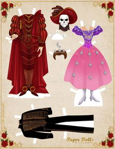 Cory Jensen's Phantom paper dolls!!!!!!* 1500 free paper dolls at Arielle Gabriel's The Internatioal Paper Doll Society and Arielle Gabriel's art, prints, paintings as well...