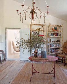 shabby chic wohnzimmer ideen wandgestaltung holzbohlen grün | my ... - Shabby Wohnzimmer Grun