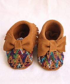 Bow Suede and Huipel Baby Moccasins-Luz – Humble Hilo