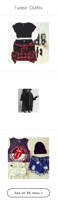 """""""Tumblr Outfits"""" by moonbabe137 ❤ liked on Polyvore featuring pictures, black items, sets, black and white, fillers, backgrounds, icons, photos, outfits and instagram"""