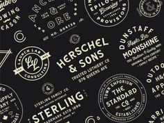The Heritage Brand Collection contains 61 font files & 25 editable logo templates for both Photoshop & Illustrator. Self Branding, Logo Branding, Branding Design, Brand Identity, Logo Inspiration, Logo Youtube, Professional Logo Design, Badge Design, Brand Collection