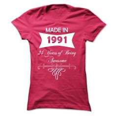 Made in 1991 - NZ2 T Shirts, Hoodies. Check price ==► https://www.sunfrog.com/Birth-Years/Made-in-1991--NZ2-HotPink-Ladies.html?41382 $19