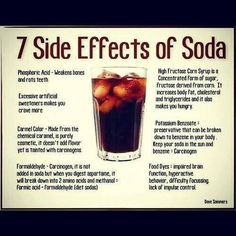 7 Side Effects of Soda....better to drink water and lemon juice