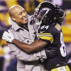 Steelers great Hines Ward congratulates current Steeler WR Antonio Brown.