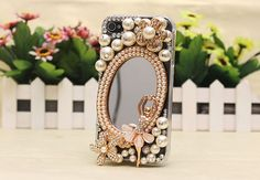 Ballet Girl Pearl Mirrors DIY Phone Case Deco Den Kit & by chen370, $7.19