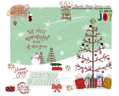 Create your Best Christmas Ever! There's a plethora of manifesting worksheets for you to use this season. Enjoy!