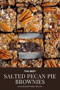 Pie Brownies, Chocolate Fudge Brownies, Homemade Brownies, Homemade Chocolate, Chocolate Tarts, Chocolate Desserts, Brownie Toppings, Brownie Recipes, Dessert Recipes
