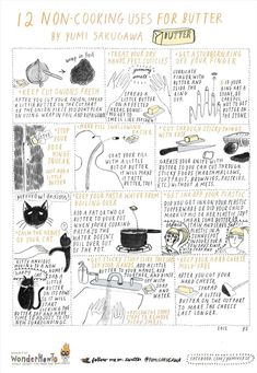 Non-Edible uses for butter. I would really try the cat-calming effect for my Dul and Cookie ^^