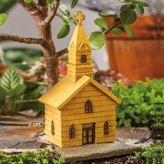 Mini Garden Church Statuary  picclick.com