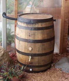 White Oak Whiskey Barrel Rain Barrel with by AuntMollysBarrels, $249.00