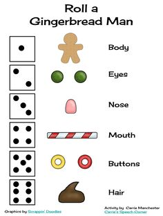 Here's a quick open-ended game for you...Roll a Gingerbread Man!     This document comes with a dice graph:       A blank gingerbread man:  ...