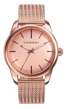 #Reloj #Viceroy para mujer (hay una versión para #hombre)  de módelos clásicos, chapado en oro rosa