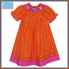 NEW ARRIVAL!! Abracadabra Smocked Girls Bishop Dress!