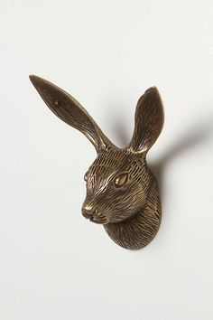 Not a hair (or a hare) will be out of place when you organize your space with this distinguished rabbit hook. Style Name:Anthropologie Rabbit Forestry Hook. Coat Hooks, Coat Rail, Home Hardware, Drawer Pulls, Pet Accessories, Wall Hooks, Art Decor, Home Decor, Kitsch