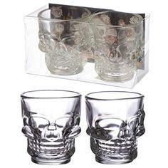 Skull Shot Glasses Set of 2 Halloween Shots, Halloween Town, Halloween Masks, Spirit Halloween, Halloween Themes, Halloween Makeup, Fun Shots, Party Shots, Shot Glass Set