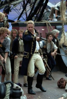 Captain Jack Aubrey - Russell Crowe in Master and Commander: The Far Side of the World (2003).