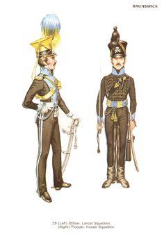 Ufficiale dello squadrone lancieri e ussaro dello squadrone ussari del ducato di Brunswick