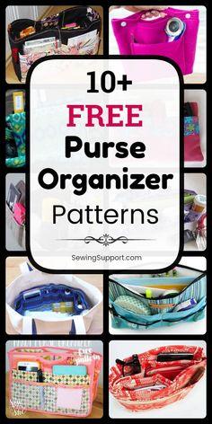 For Mom Purse Organization DIY. 11 free purse organizer insert patterns tutorials and diy sewing projects. Handbag Organization, Diy Organization, Handbag Organizer, Purse Organizer Pattern, Purse Pattern Sewing, Diy Purse Organizer Insert, Diy Sewing Projects, Sewing Tutorials, How To Make Purses
