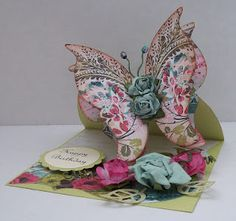 Butterfly Easel Card  Stephanie Cash is our butterfly girl