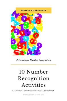 Teaching number recognition was a challenge in my Special Education classroom. Too many times the resources I found were too difficult for my students or started introducing 1:1 correspondence before we were ready for it. That's when I came up with there 10 easy to implement activities for my classroom. These hands on activities have my students recognizing numbers 0-100 fluently and with confidence! #specialeducation #spedlife #autismclassroom #iteachsped #weteachsped #autismteacher Hands On Activities, Math Activities, Simple Math, Easy Math, Number Recognition Activities, Teacher Resources, Classroom Resources, Teaching Special Education, Teaching Numbers