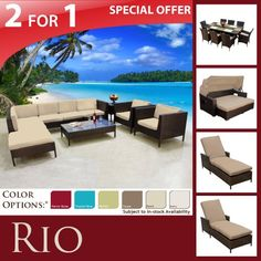 (CLICK IMAGE TWICE FOR UPDATED PRICING AND INFO) #home #patio #sofa #outdoor #outdoorsofa #patiosofa #patiosofaset #loungesets #outdoorpatiosofasets  see more patio sofa at http://zpatiofurniture.com/category/patio-furniture-categories/patio-sofa/ - WICKER SOFA SET FURNITURE OUTDOOR, DINING 9PC SET, (2) CHAISES, SUN BED 2PC « zPatioFurniture.com