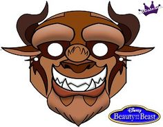 Beast from Disney Beauty and the Beast free printable Mask
