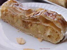 Feuilleté strudel aux pommes Dessert Aux Fruits, Apple Pie, Biscuits, Gluten, Ethnic Recipes, Blog, Dessert Healthy, Alsace, Samba