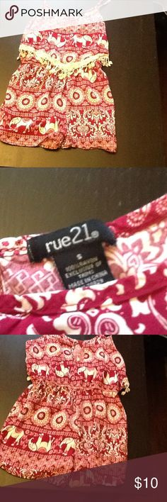 Rue 21 Cute Maroon Romper Perfect Condition! Only worn twice. Very light weight and comfortable! Rue 21 Shorts