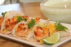 Chipotle Shrimp Tacos with Cilantro Lime Sauce! http://cookingwithmelody.com/all-recipes/main-courses/chipotle-shrimp-tacos-with-cilantro-lime-sauce/