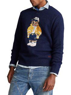 Preppy Mens Fashion, Sailor, Polo Ralph Lauren, Men Sweater, Street Style, Bear, Knitting, Sweaters, How To Wear