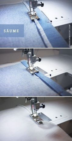 SEWING HEMS // We& show you different ways to hem. Whether simple, dop . - SEWING HEMS // We& show you different ways to hem. Whether simple, double-wrapped or rolled - Sewing Tutorials, Sewing Crafts, Sewing Projects, Sewing Patterns, Sewing Hems, Sewing Clothes, Techniques Couture, Sewing Techniques, Diy Handwarmers