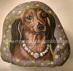Custom Pet Portraits & Memorials, Hand Painted Rocks, Stone paintings by Cobbledart Rock Paintings. Visit www.etsy.com/shop/cobbledart