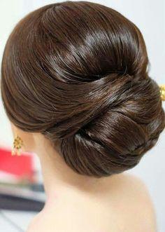 A pretty updo hair style.