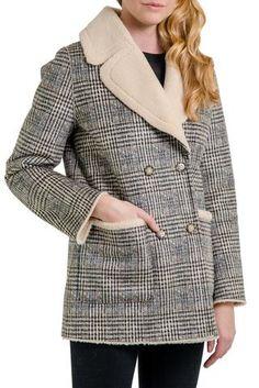 Love Token Turner Faux Fur 3//4 Length Coat