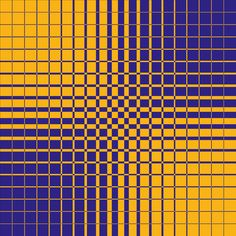 Gradual Shift Blue/Yellow. Op Art. Dennis Smit, 2015.