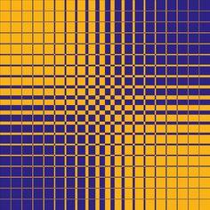 Gradual Shift Blue/Yellow. Op Art. Dennis Smit, 2015.