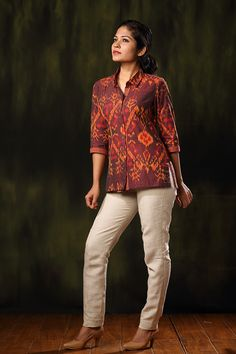 Tops: Buy Designer & Stylish Tops for Women & Girls Short Kurti Designs, Kurta Designs Women, Salwar Designs, Blouse Designs, Kalamkari Tops, Stylish Tops For Women, Short Kurtis, Stylish Dress Designs, Kurta Patterns