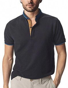 029b15368567 online shopping for Navifalcon Mens Short Sleeve Classic Fit Cotton Pique  Polo Shirt from top store. See new offer for Navifalcon Mens Short Sleeve  Classic ...