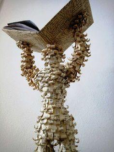mirelefey, il magico potere umano, libri d'artista, libro, carta, pagine, scultura