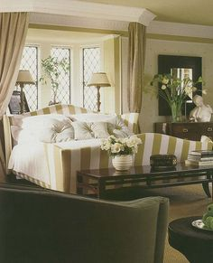 This room is a perfect example of enduring classic style. This picture is out of an Architectural Digest from the 80's!