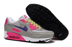 Authentic Nike Shoes For Sale, Buy Womens Nike Running Shoes 2014 Big Discount Off Nike Air Max 90 Womens Cool Grey/Purple-Pink-Volt Shoes [ - Nike Shoes For Sale, Nike Free Shoes, Nike Shoes Outlet, Running Shoes Nike, Nike Air Max For Women, Nike Women, Nike Sneakers, Air Max Sneakers, Gris Violet