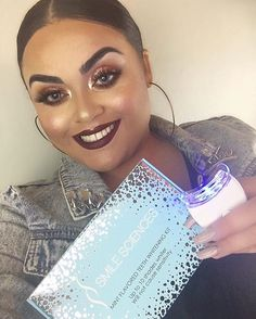 "Beautiful!  #Repost @gabriellalascano ・・・ ✨thanks so much to @smilesciences for this amazing teeth whitening kit ✨ used it once and already see a difference!  so easy to use and didn't bother me at all use code ""GABRIELLA"" for your kit and get it for only $29 instead of $299 @brooklyn_smilesciences #smilesciences #wakeupandmakeup #makeuponpoint #makeuponfleek #makeuplife #hudabeauty #vegas_nay #anastasiabeverlyhills #pearlywhites #whiteteeth #whitesmile #smile #smilemore #smil..."