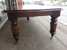 4 metre solid Mahogany 5 leg table using reclaimed snooker table legs. New top and frame.