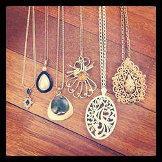 Vintage necklaces. Circa 1960-1980
