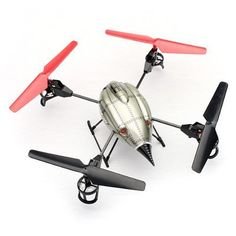 WLtoys V222 Quadcopter 4CH 6 Axis RC Helicopter with Camera Upgraded V959 Mode 2 by MECO