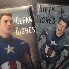 Captain America Reversible Magnetic Dishwasher Sign Clean Dirty Dishwasher Magnet Geek Kitchen Clean Dirty Marvel/'s Capt America