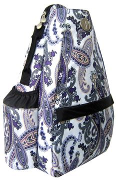 Purple Paisley Small Sling, also comes in the Convertible as well! Found at Life Is Tennis!