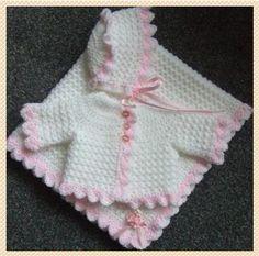 A PATTERN TO CROCHET 3 PIECE LAYETTE FOR PREEMIE BABY/REBORN DOLL 68 | eBay