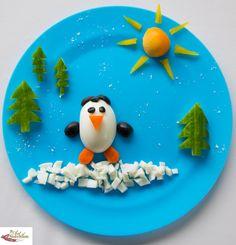 Fun food for kids Egg Penguin