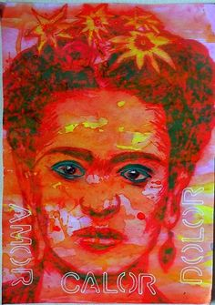 Bastelmania: Red hot Frida and cold and wet walks